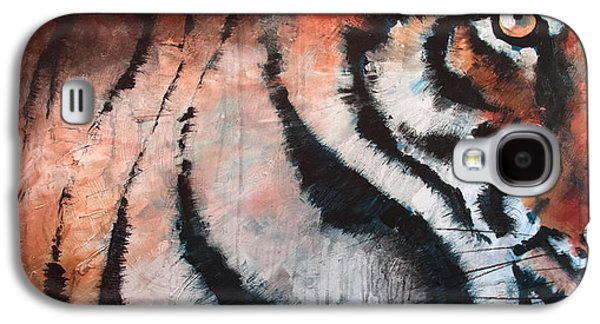 The Tiger Paintings Galaxy S4 Cases - Tiger Galaxy S4 Case by Sean Parnell