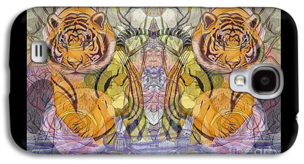 Tiger Spirits In The Garden Of The Buddha Galaxy S4 Case by Joseph J Stevens