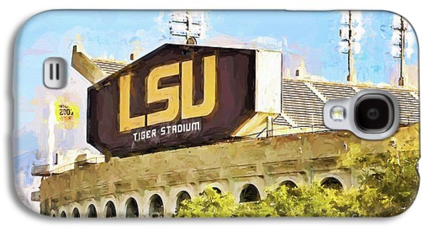 Louisiana Photographs Galaxy S4 Cases - Tiger Stadium Galaxy S4 Case by Scott Pellegrin