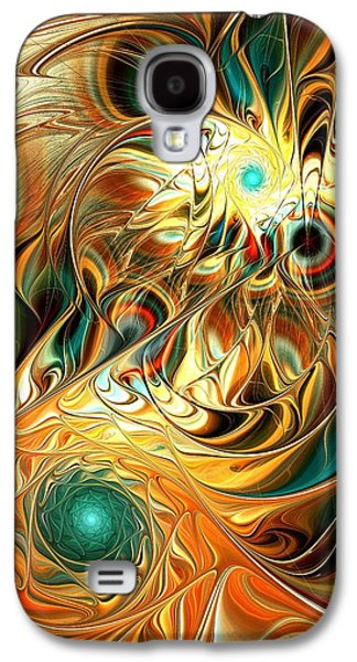 Abstracts Galaxy S4 Cases - Tiger Vision Galaxy S4 Case by Anastasiya Malakhova