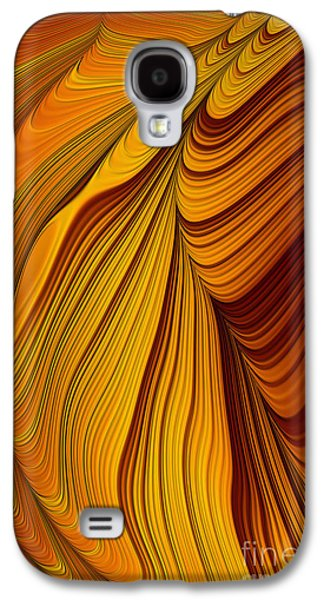Creativity Galaxy S4 Cases - Tigers Eye Abstract Galaxy S4 Case by John Edwards