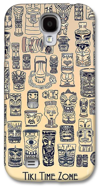 Ancient Galaxy S4 Cases - Tiki Vintage Zone Galaxy S4 Case by Megan Dirsa-DuBois