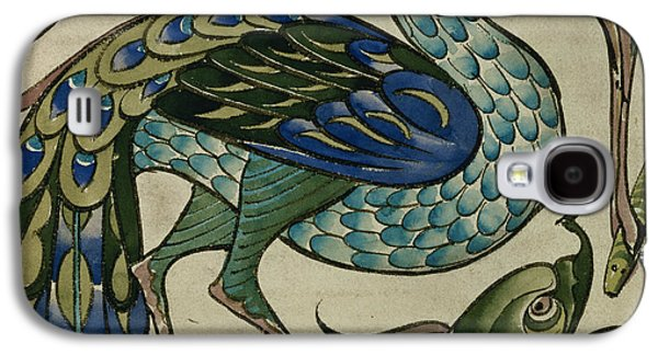 Designs Ceramics Galaxy S4 Cases - Tile design of heron and fish Galaxy S4 Case by Walter Crane