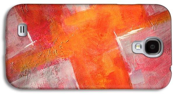 Tangerine Paintings Galaxy S4 Cases - Tilt Galaxy S4 Case by Nancy Merkle