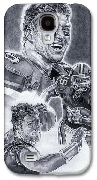 Tim Tebow Galaxy S4 Cases - Tim Tebow Galaxy S4 Case by Jonathan Tooley
