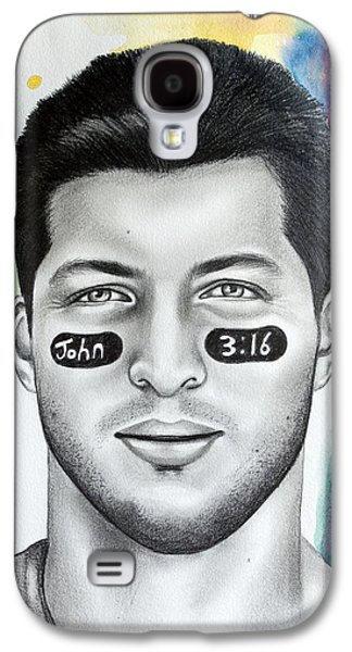 Tebowing Galaxy S4 Cases - Tim Tebow Galaxy S4 Case by Lindsay Pace