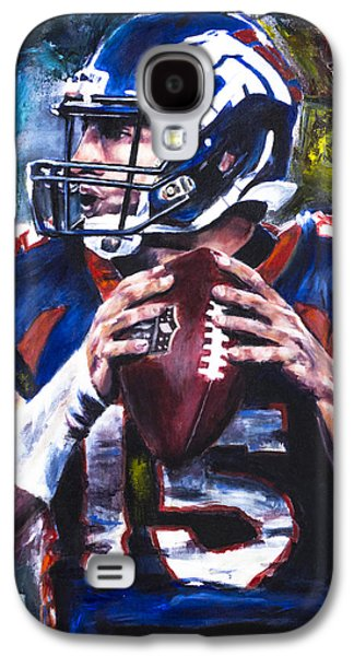 New York Jets Galaxy S4 Cases - Tim Tebow Galaxy S4 Case by Mark Courage
