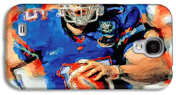 Tim Tebow Mr. Florida Gator Galaxy S4 Case by John Farr