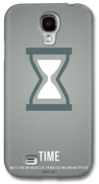 Icons Drawings Galaxy S4 Cases - Time Galaxy S4 Case by Aged Pixel
