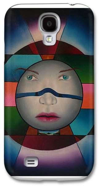 To Heal Paintings Galaxy S4 Cases - Time Face Galaxy S4 Case by Extranjerocus