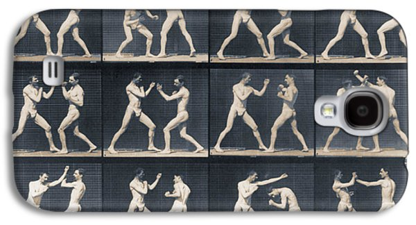 Nature Study Mixed Media Galaxy S4 Cases - Time Lapse Motion Study Men Boxing Galaxy S4 Case by Tony Rubino