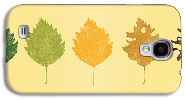 Fall Leaves Galaxy S4 Cases - Time passes Galaxy S4 Case by Budi Kwan