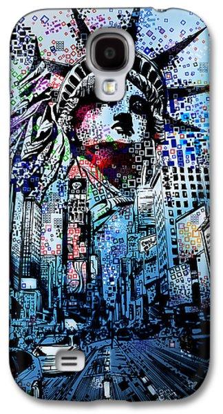 Times Square 2 Galaxy S4 Case by Bekim Art