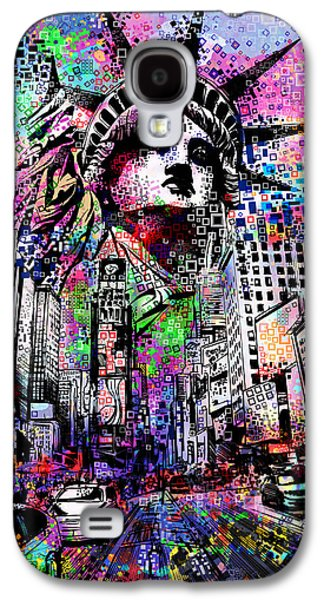 Times Square Galaxy S4 Case by Bekim Art