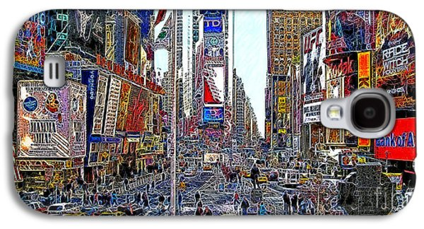 Times Square Digital Galaxy S4 Cases - Time Square New York 20130430 Galaxy S4 Case by Wingsdomain Art and Photography