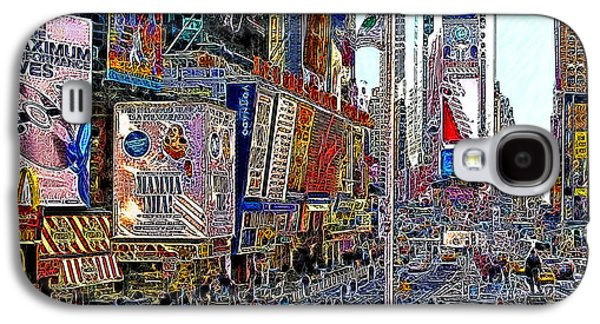 Times Square Digital Galaxy S4 Cases - Time Square New York 20130430v2 Galaxy S4 Case by Wingsdomain Art and Photography