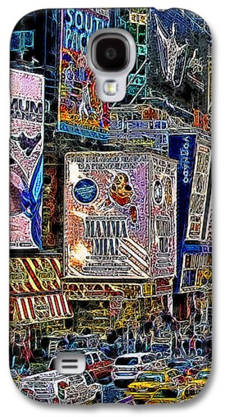 Times Square Digital Galaxy S4 Cases - Time Square New York 20130430v3 Galaxy S4 Case by Wingsdomain Art and Photography