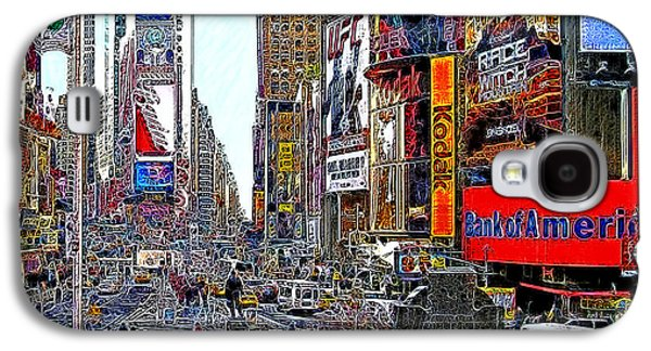 Times Square Digital Art Galaxy S4 Cases - Time Square New York 20130503v4 Galaxy S4 Case by Wingsdomain Art and Photography