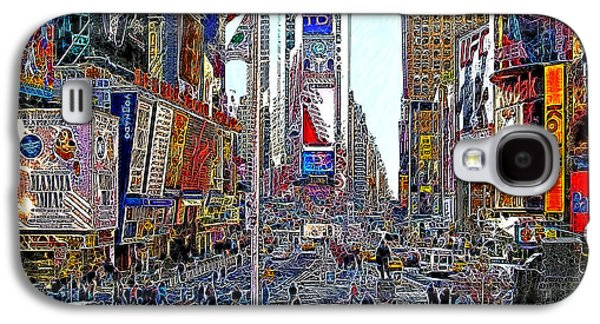 Times Square Digital Art Galaxy S4 Cases - Time Square New York 20130503v5 Galaxy S4 Case by Wingsdomain Art and Photography