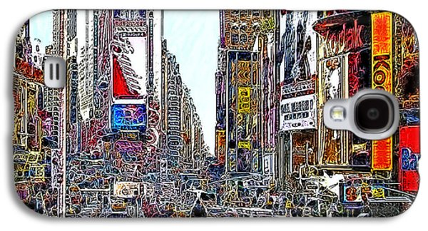 Times Square Digital Galaxy S4 Cases - Time Square New York 20130503v8 square Galaxy S4 Case by Wingsdomain Art and Photography