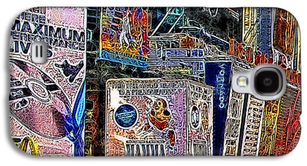 Times Square Digital Art Galaxy S4 Cases - Time Square New York 20130503v9 square Galaxy S4 Case by Wingsdomain Art and Photography