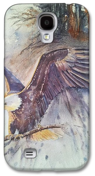Eagle Paintings Galaxy S4 Cases - Time To Go Galaxy S4 Case by Patricia Pushaw