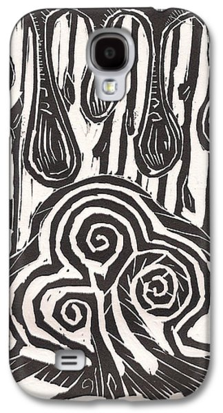 Linocut Drawings Galaxy S4 Cases - TIme to grow Galaxy S4 Case by Stephen Wiggins
