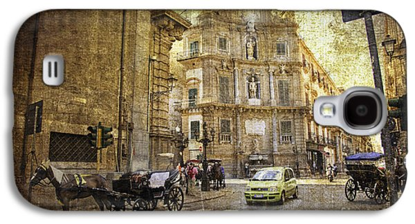 Horse And Buggy Galaxy S4 Cases - Time Traveling in Palermo - Sicily Galaxy S4 Case by Madeline Ellis