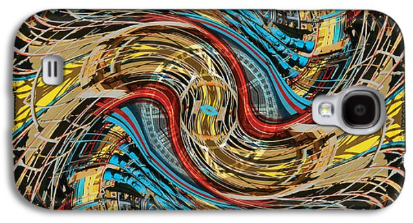 Splashy Digital Art Galaxy S4 Cases - Time Warp at the Chaos Factory Galaxy S4 Case by Bill Jonas