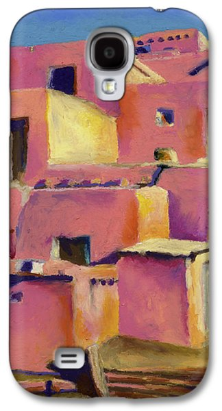 Landmarks Pastels Galaxy S4 Cases - Timeless Adobe Galaxy S4 Case by Stephen Anderson