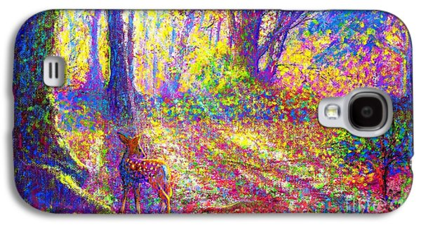 Deer And Dancing Shadows Galaxy S4 Case by Jane Small