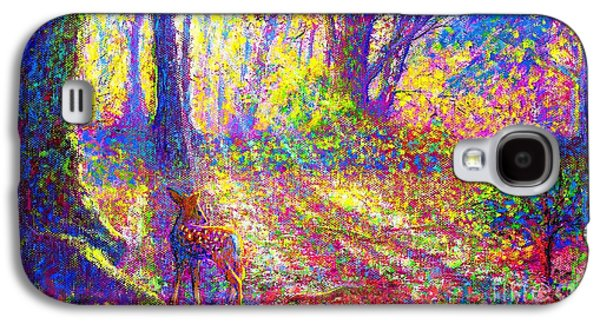 Park Scene Galaxy S4 Cases - Dancing Shadows Galaxy S4 Case by Jane Small