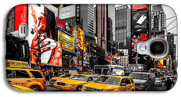 Cab Galaxy S4 Cases - Times Square Taxis Galaxy S4 Case by Az Jackson