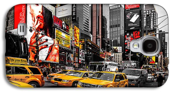 Time Photographs Galaxy S4 Cases - Times Square Taxis Galaxy S4 Case by Az Jackson