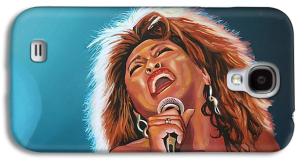 King Of Pop Galaxy S4 Cases - Tina Turner 3 Galaxy S4 Case by Paul Meijering