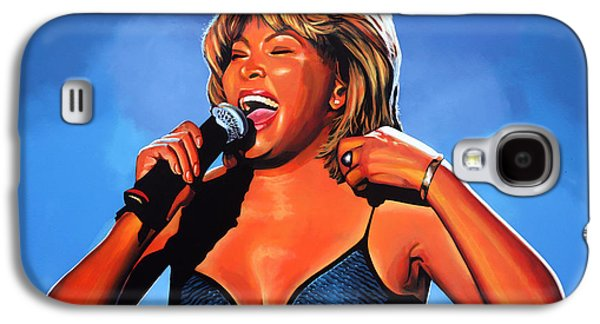 King James Galaxy S4 Cases - Tina Turner Queen of Rock Galaxy S4 Case by Paul  Meijering