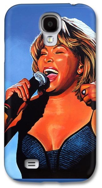 King Of Pop Galaxy S4 Cases - Tina Turner Queen of Rock Galaxy S4 Case by Paul Meijering