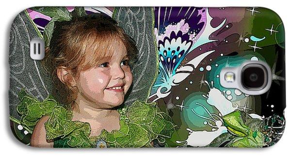 Little Girl Mixed Media Galaxy S4 Cases - Tinkerbell Galaxy S4 Case by Ellen Henneke