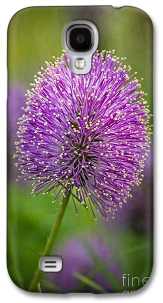 Tamyra Ayles Galaxy S4 Cases - Tiny Purple Wildflower II Galaxy S4 Case by Tamyra Ayles