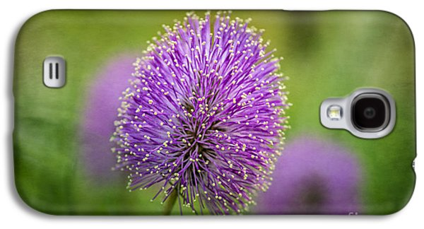 Tamyra Ayles Galaxy S4 Cases - Tiny Purple Wildflower Galaxy S4 Case by Tamyra Ayles