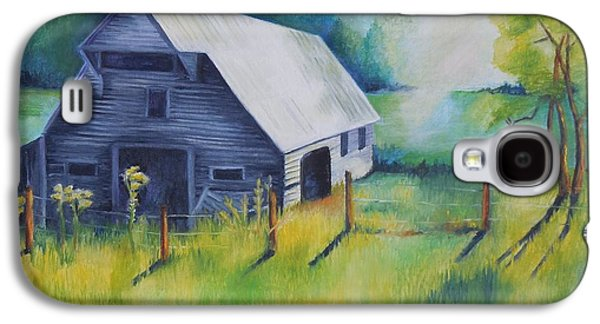 Smokey Mountains Paintings Galaxy S4 Cases - Tipton Barn Cades Cove TN Galaxy S4 Case by Golanv  Waya