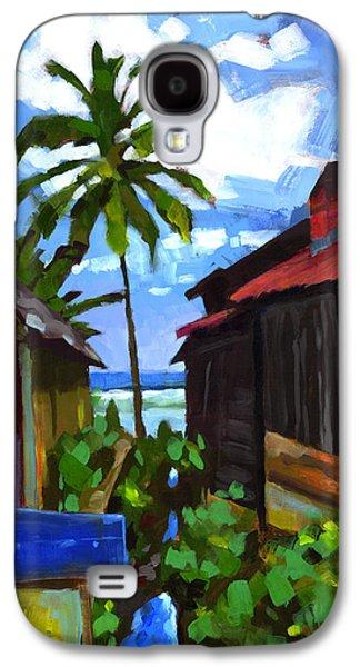 America Paintings Galaxy S4 Cases - Tiririca Beach Shacks Galaxy S4 Case by Douglas Simonson