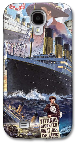 Nightmare Digital Art Galaxy S4 Cases - Titanic Galaxy S4 Case by Steve Crisp