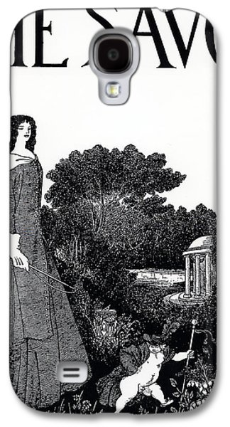 Illustrator Galaxy S4 Cases - Title page from The Savoy Galaxy S4 Case by Aubrey Beardsley