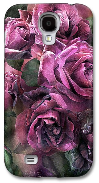 Papa Galaxy S4 Cases - To Be Loved - Mauve Rose Galaxy S4 Case by Carol Cavalaris