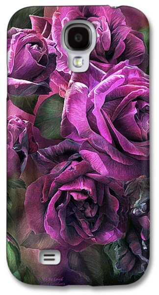 Papa Galaxy S4 Cases - To Be Loved - Purple Rose Galaxy S4 Case by Carol Cavalaris