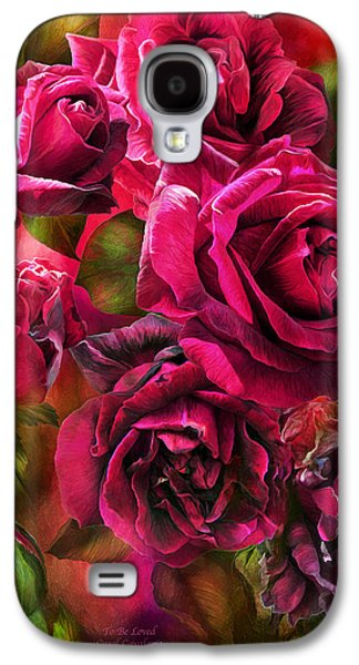 Papa Galaxy S4 Cases - To Be Loved - Red Rose Galaxy S4 Case by Carol Cavalaris