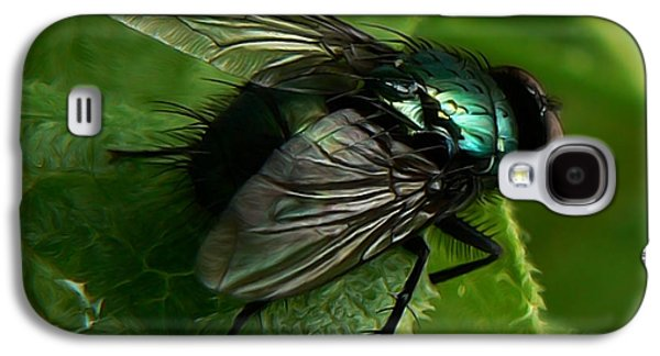 Flies Mixed Media Galaxy S4 Cases - To be the Fly on the Salad Greens Galaxy S4 Case by Barbara St Jean