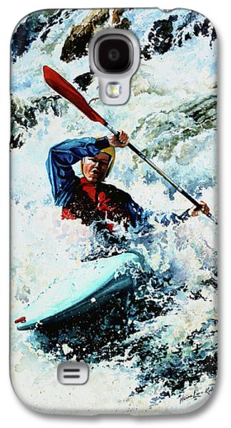 Canadian Sports Paintings Galaxy S4 Cases - To Conquer White Water Galaxy S4 Case by Hanne Lore Koehler