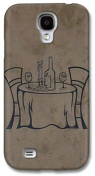 Chair Pyrography Galaxy S4 Cases - To Dine Galaxy S4 Case by Roxanne Butler